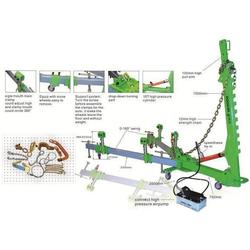 ATIS DС-Y01 Мини стапель передвижной, (2500х1500мм) 1 силовое устройство усилием 10т, 1 пневмогидр.насос, 4 зажима за пороги, комплект с оснасткой 10 пр. (Y01) Atis Правка кузовов Сервисное оборудование
